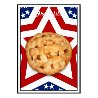 Apple Pie on Stars & Stripes Design Pack Of Chubby Business Cards