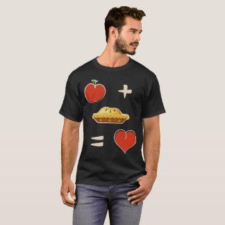 Apple Plus Pie Equals Love Math Equation Shirt