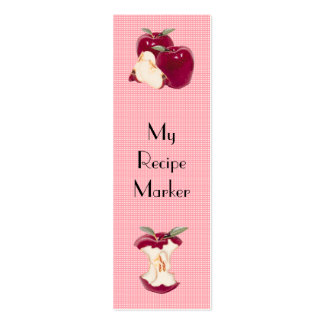Apple Recipe Book Mark Pack Of Skinny Business Cards