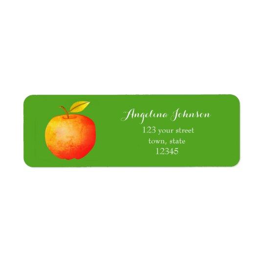 Apple Red Green Nature Ecology Health Nutritionist Return Address Label