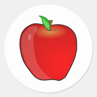 Apple Round Sticker