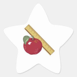 Apple & Ruler Star Sticker