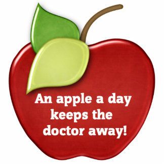 Apple sculpture photo cutout