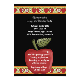 Apple Seeds - Party Invitation