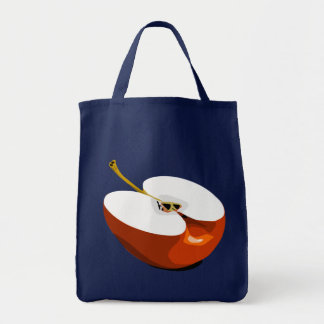 Apple slice grocery tote