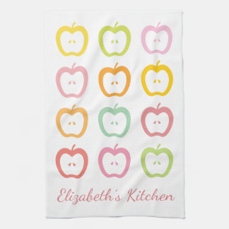 Apple Slices Personalized Name Kitchen Towel