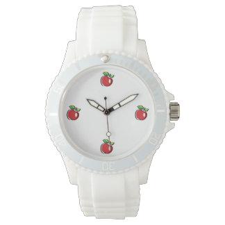 Apple Swoozle Women's Sporty White Silicon Watch