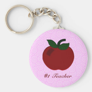 Apple Teacher Collection Basic Round Button Key Ring