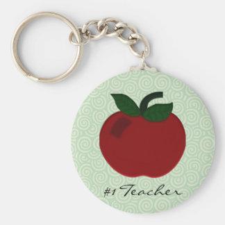 Apple Teacher Collection Basic Round Button Key Ring