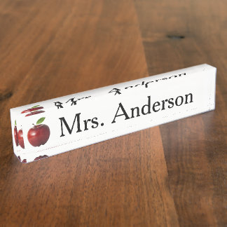 Apple Teacher Nameplate for desk