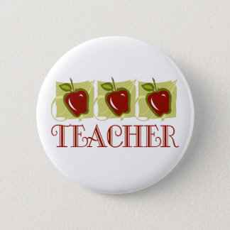 Apple Teacher School Gift 6 Cm Round Badge