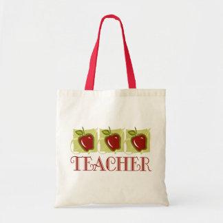 Apple Teacher School Gift Budget Tote Bag