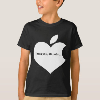 APPLE THANK YOU MR JOBS text onblack T-Shirt