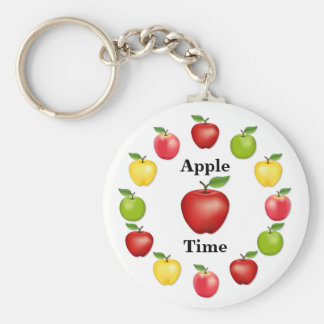 Apple Time, Delicious, Granny Smith, Pink Variety Key Ring