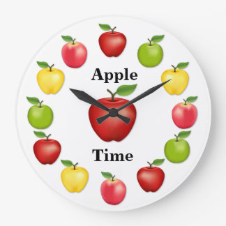 Apple Time, Delicious, Granny Smith, Pink Variety Wall Clocks