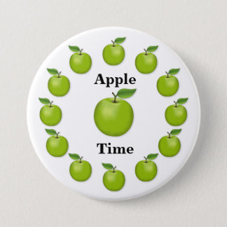 Apple Time, Granny Smith 7.5 Cm Round Badge