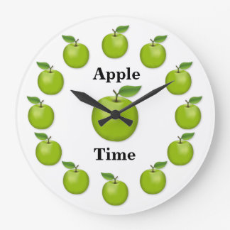 Apple Time, Granny Smith Large Clock