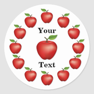 Apple Time, Red Delicious Round Sticker
