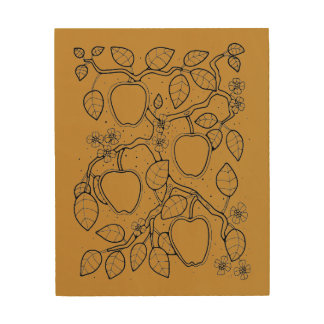 Apple Tree Branch Design By Suzy Joyner Wood Wall Decor