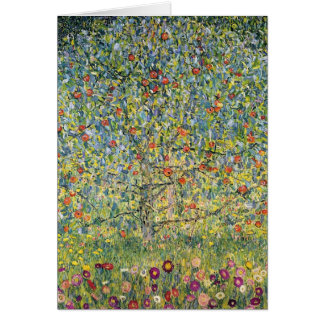 Apple Tree by Gustav Klimt Vintage Art Nouveau Card