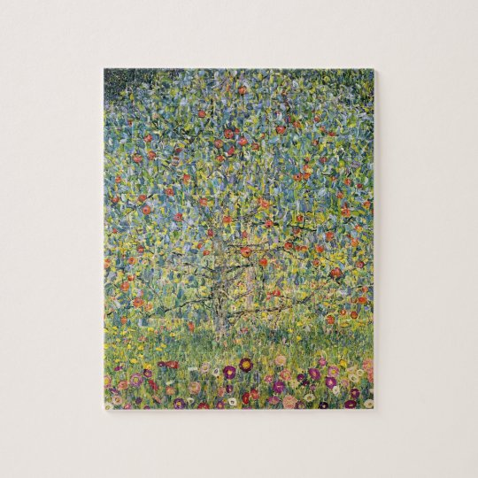 Apple Tree by Gustav Klimt, Vintage Art Nouveau Jigsaw Puzzle