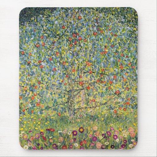 Apple Tree by Gustav Klimt, Vintage Art Nouveau Mousepad