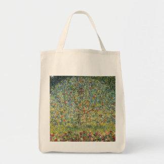 Apple Tree by Gustav Klimt, Vintage Art Nouveau Grocery Tote Bag