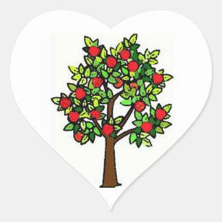 Apple Tree Heart Sticker
