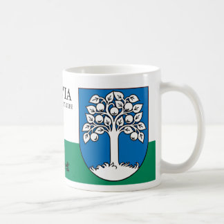 Apple Tree Heraldry Shield from Durbe Latvia Coffee Mug