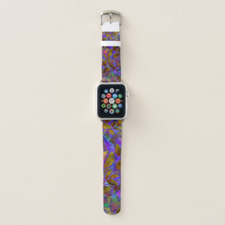Apple Watch Bands Floral Abstract Stained Glass
