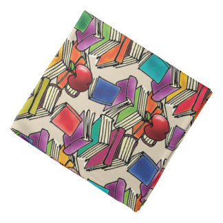 Apple with Book Stack Bandana