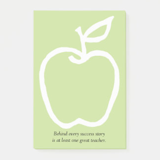 Apple with Teacher's Quote 4 x 6 Post-it Notes