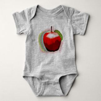 Apple with Worm Baby Bodysuit