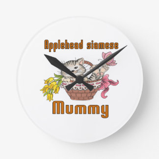 Applehead siamese Cat Mom Clock
