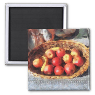 Apples and Bananas in Basket Magnet