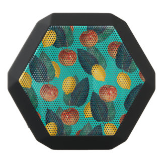 apples and lemons teal black bluetooth speaker
