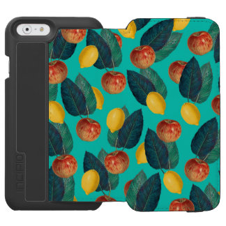 apples and lemons teal incipio watson™ iPhone 6 wallet case