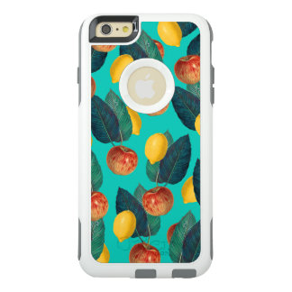 apples and lemons teal OtterBox iPhone 6/6s plus case
