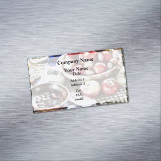 Apples And Nuts Magnetic Business Cards