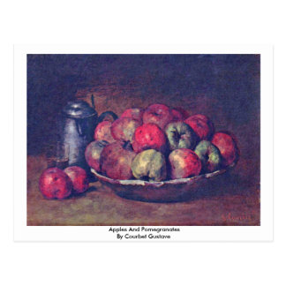 Apples And Pomegranates By Courbet Gustave Postcard