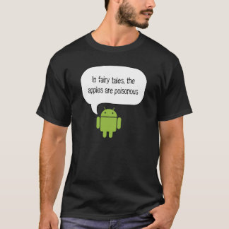 Apples are poison android shirt