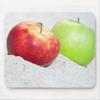 apples at sand mouse pad
