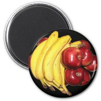 Apples & Bananas Fridge Magnets