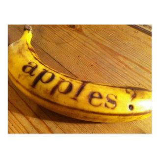 apples? bananas? postcard