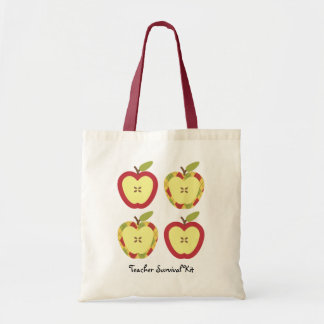 Apples Customizable Text Tote Bag