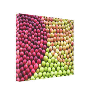 APPLES IN PATTERN PHOTO WALL ART Wrapped Canvas