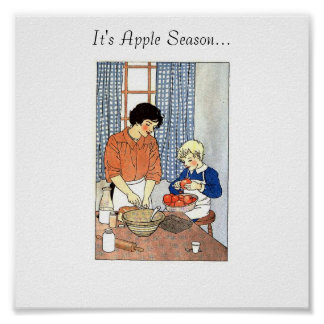 Apples in the Kitchen from Grandmas Graphics, I... Print