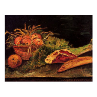 Apples, Meat and a Roll by van Gogh Postcard