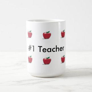 Apples Number One Teacher Classic White Mug