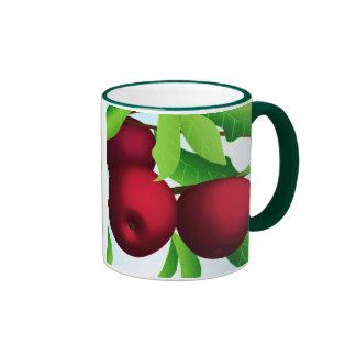 """""""Apples on a Branch"""" Ringer Mug"""